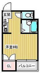 セラ北加賀屋B棟[403号室]の間取り