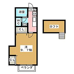 クレールエイワII[2階]の間取り