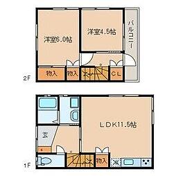 [一戸建] 東京都葛飾区細田5丁目 の賃貸【/】の間取り