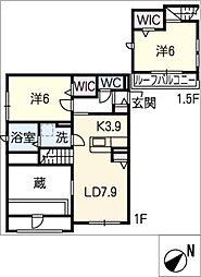 仮)姫小川町新築アパート[1階]の間取り