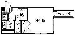 マンション花[305号室]の間取り