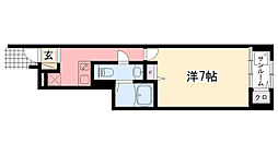 エトワール学文殿 A・B[1階]の間取り