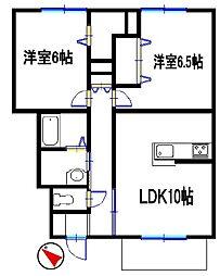 グランシャリオ島田[1階]の間取り