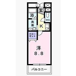 ソレイユ山坂[2階]の間取り