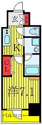KDXレジデンス池袋ウエスト 3階1Kの間取り