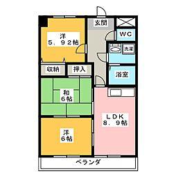N'S餐霞園[4階]の間取り
