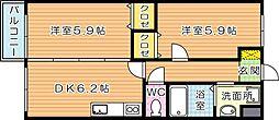 Curum三ヶ森(クルム三ヶ森)[3階]の間取り