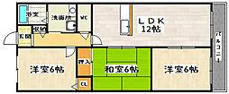 ソレーユ小栗栖[2階]の間取り
