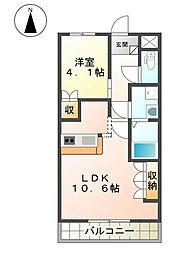 福岡県北九州市八幡西区金剛3丁目の賃貸アパートの間取り