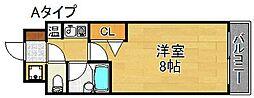 プルメリア玉出[2階]の間取り