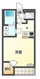 JR湖西線 新旭駅 徒歩11分の賃貸アパート 2階1Kの間取り