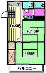 白石ハイツCD棟[2階]の間取り