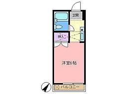 梅田ハイム[102号室]の間取り