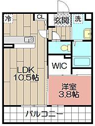 D-room博多駅南[305号室]の間取り