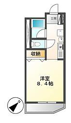 アメニティ覚王山[1階]の間取り