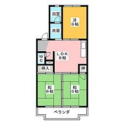グリーンハイツ猪高台[1階]の間取り