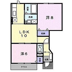 コーポ五反田[0101号室]の間取り