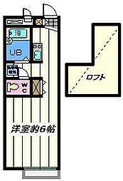 東京都葛飾区水元1の賃貸アパートの間取り