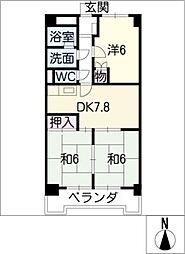 メゾン大成[5階]の間取り