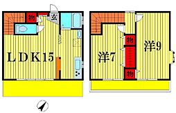 [一戸建] 千葉県松戸市古ヶ崎 の賃貸【/】の間取り