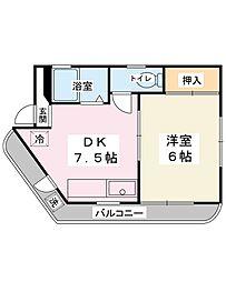 パークサイド当代島[3階]の間取り