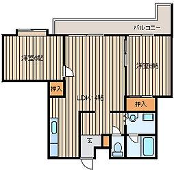 ラ・パス湘南II[4階]の間取り