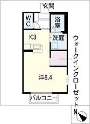 Bell A[2階]の間取り