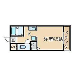 大阪府高槻市奈佐原2丁目の賃貸マンションの間取り