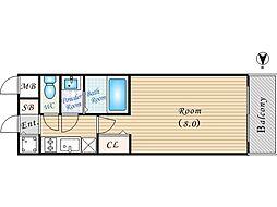 大阪WESTレジデンス[8階]の間取り