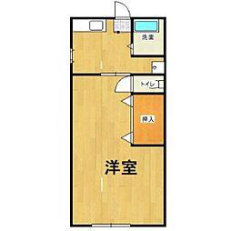 穴井アパート[2階]の間取り