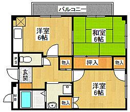 マンションOMOYA[402号室]の間取り