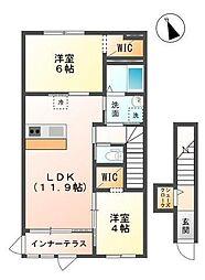 君津市法木作新築アパート[201号室]の間取り