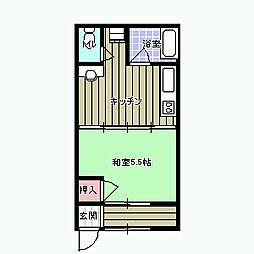 第2水野アパート[5号室]の間取り
