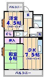 ビラシティ鈴木I[205号室]の間取り