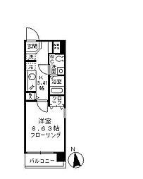 アビテ東高円寺[4階]の間取り