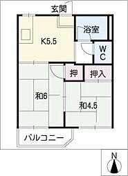 タウン66 B棟[1階]の間取り
