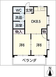 アーバンハイツ太田[4階]の間取り