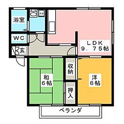 アナハイムI[2階]の間取り
