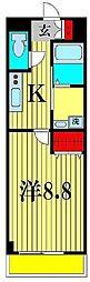 ベルフルール壱番館[3階]の間取り