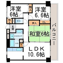 フェリーチェ尼崎[3階]の間取り