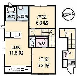 スカイメゾン 12番館[2階]の間取り