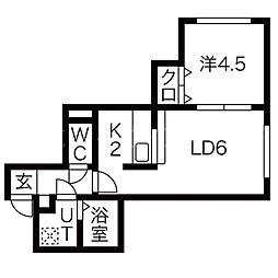 ライフステージ菊水[3階]の間取り
