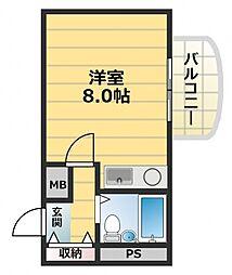 東大阪レジデンス[2階]の間取り