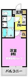 クレスト舎利寺[3階]の間取り