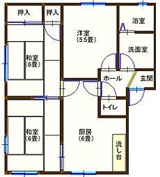 ラフォーレ百頭3 201号室[2階]の間取り