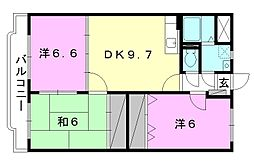 Happiness S[205 号室号室]の間取り