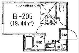リバティ文京[B205号室]の間取り
