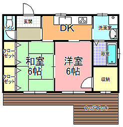 [一戸建] 茨城県水戸市大塚町 の賃貸【/】の間取り