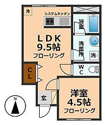 東京都杉並区久我山3丁目の賃貸マンションの間取り