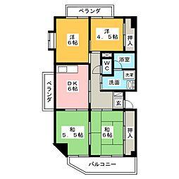 サンマンション八光[3階]の間取り